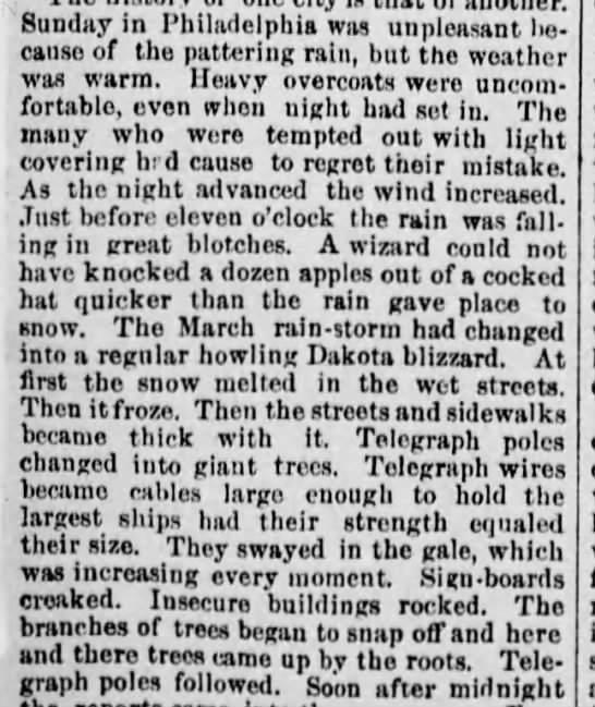 Great Blizzard of 1888 -