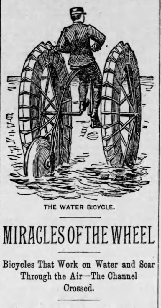 Miracles of the Wheel - THE WATER BICYCLE. MIRACLES OFIHE WHEEL...