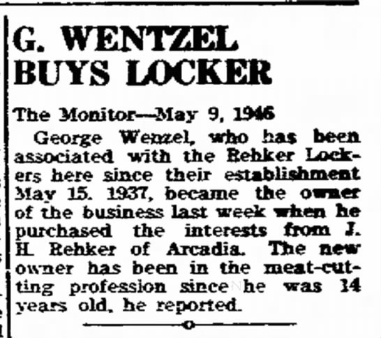 George Wentzels Buys Locker -