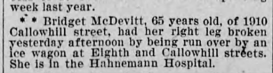 Bridget McDevitt 17 May 1896 -