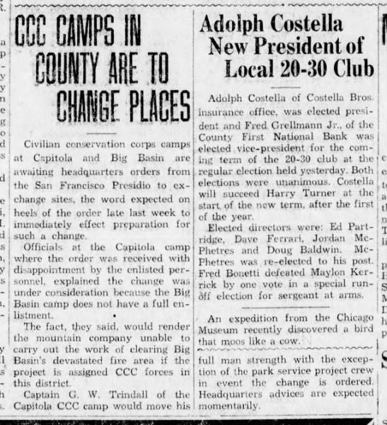 Sentinel, 3 Dec 1936, Page 3, Col 2 -