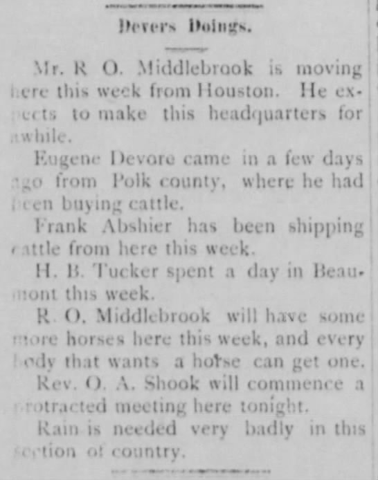 Capt. Frank Abshier shipping cattle -