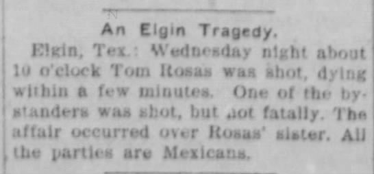 Tom Rosas killed -