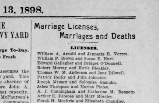 Bridget O'donnell & Edward Gallagher 