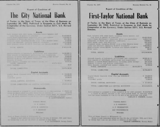 1953.10.8- FTNB Statement Of Condition -