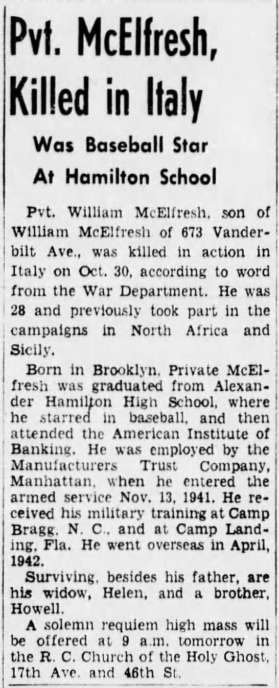 William F. McElfresh Obituary -