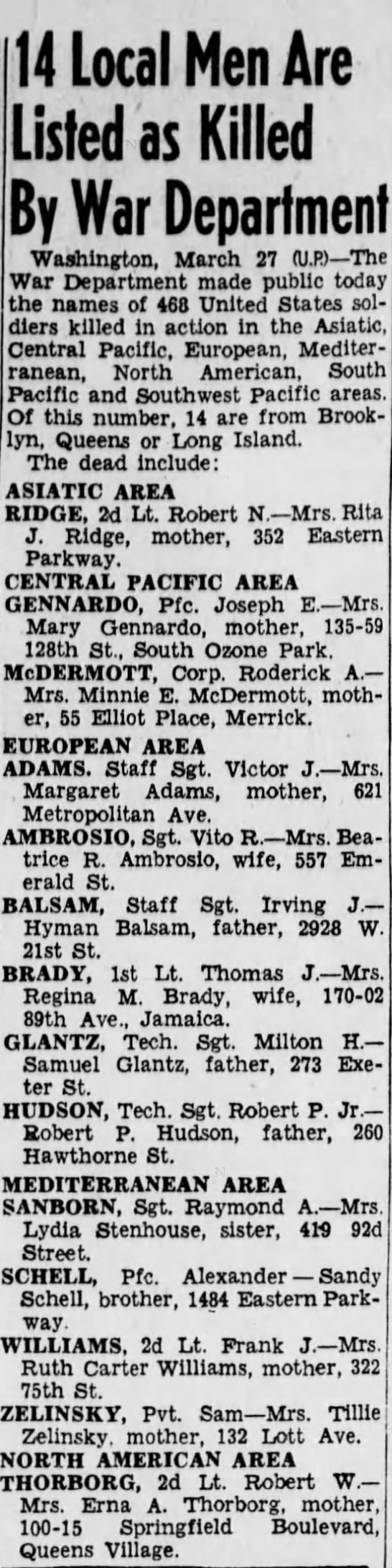 The Brooklyn Daily Eagle, 28 March 1944 -