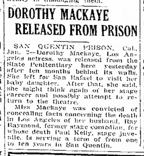 Dorothy MacKaye Paul Kelly -
