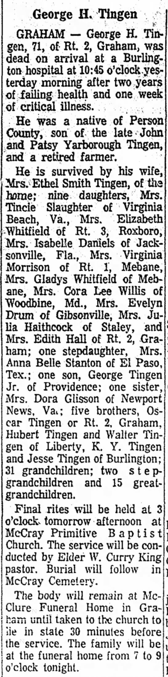 burlington times news obituaries