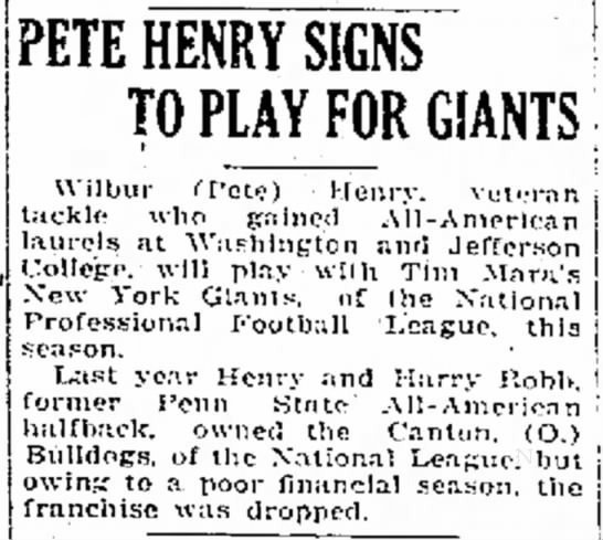 Pete Henry Signs To Play For Giants -
