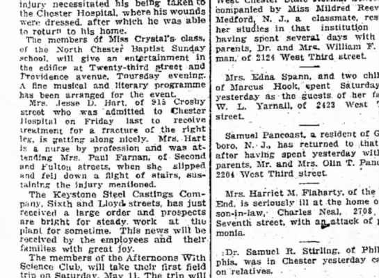 Delaware County Daily Times Monday May 6, 1912 -
