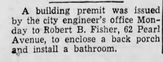 New Bathroom! - A building premit was issued by the city...