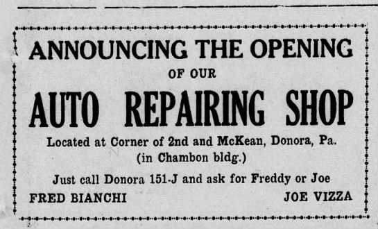 fred bianchi ad the daily republican 26 march 1931 -