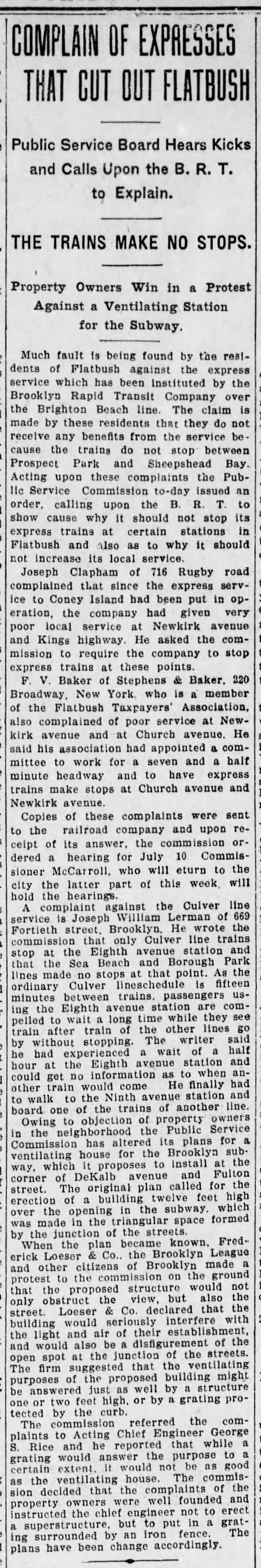 1908-6-30 716 Rugby resident complains of poor Brighton service -