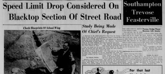 PA 132 speed limits, August 28, 1958 -