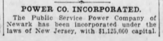 Power Company Incorporated -