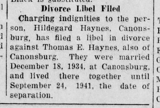 Haynes-Hildegard_Nts_1942-02-20_divorce-filed_prob-dropped -
