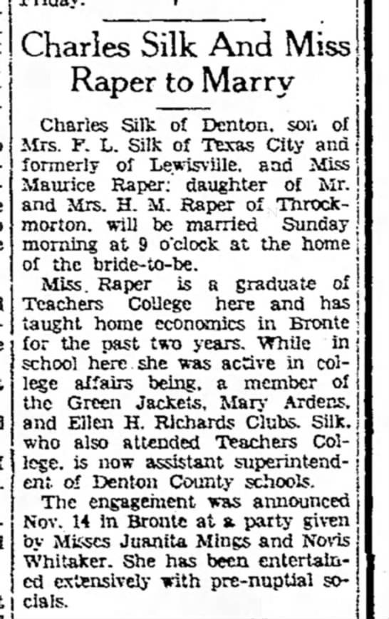 Charles Silk 11/26/38