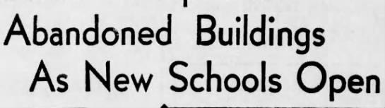 Old Schools Close -