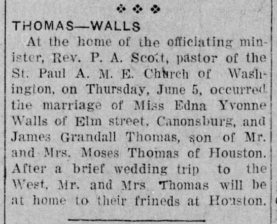 Thomas James G to Edna Yvonne Walls 6 Jun 1919 p 3 -