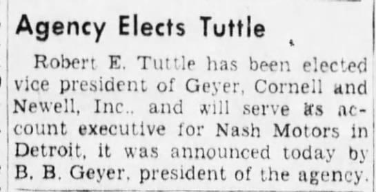R.E. Tuttle 1944 -