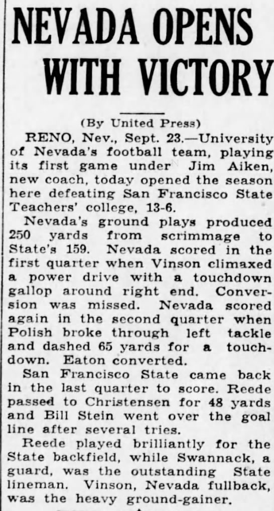 Nevada Opens With Victory -