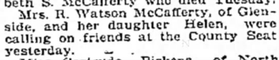 Could Margaret also be Helen? - Mrs. R. Watson McCafferty, of Glenside, and her...