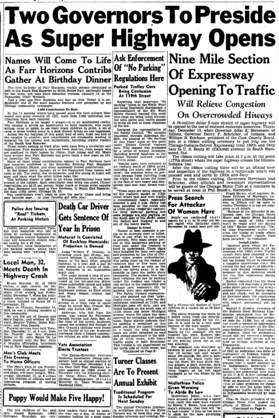 Ribbon-cutting ceremony for Chicago-Indiana-Detroit Expressway -