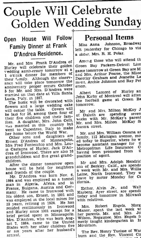 Ironwood Daily Globe, October 2, 1937, page 14 -