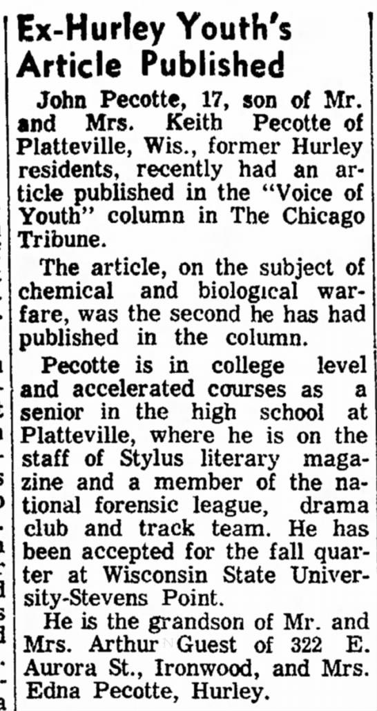 Ironwood Daily Globe, Apr 7,1969, page nine -