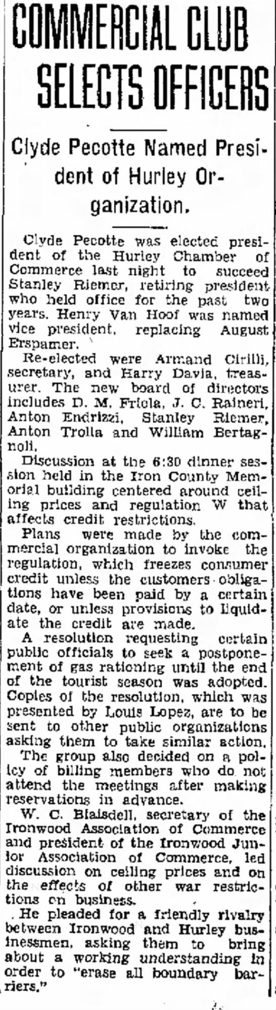Ironwood Daily Globe, Jun 5, 1942, page 1 -