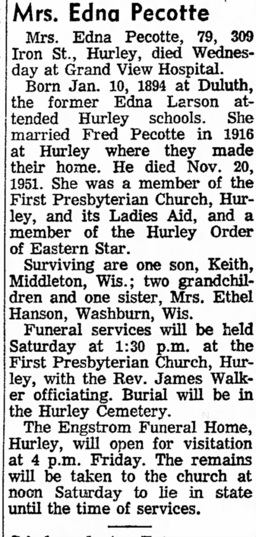 Ironwood Daily Globe, Aug 16, 1973, page two -