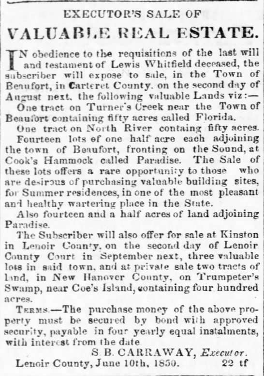"""The Newbern Advocate""