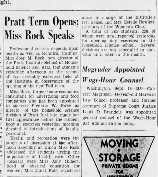 Janet Hale Brooklyn Daily Eagle 14 Sept 1938 -