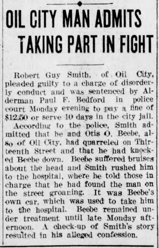 Robert Guy Smith Fight -