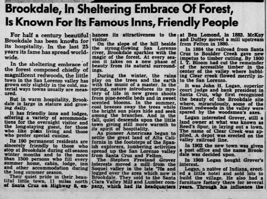 Where Hospitality is Traditional Article 1, 21 Jan 1951 -