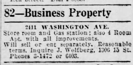 Business property ad-J.Wolfberg-15 May 1930 -
