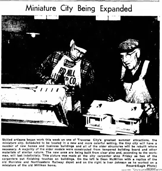 Johnson, Iver-a skilled artisan- Traverse City Record-Eagle, 18 February 1956, Page 1 -