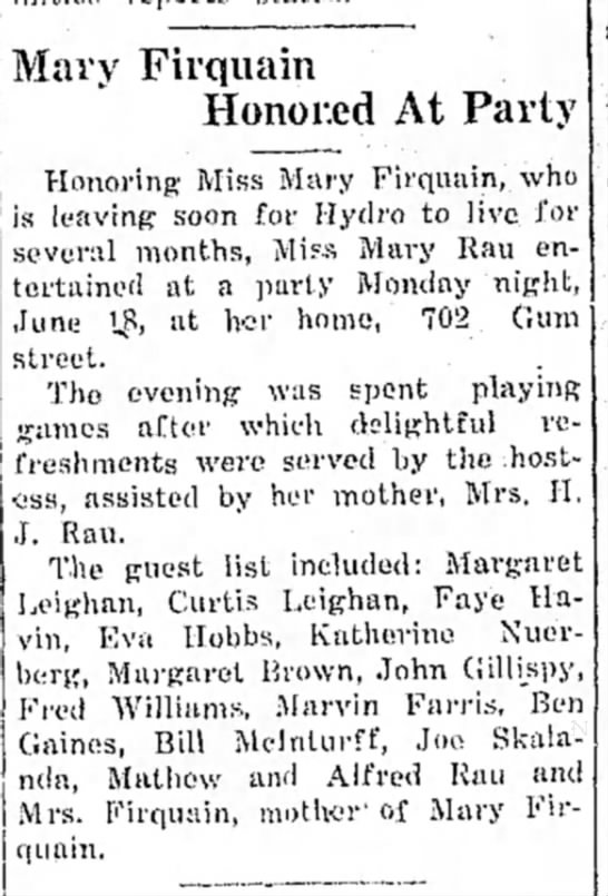 The Perry Journal (Perry, Oklahoma) 20 June 1928 Pg1 -