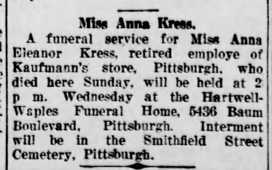 Obit @ Waples Funeral Home - Miss Anns Km A funeral service for Miss Anna...