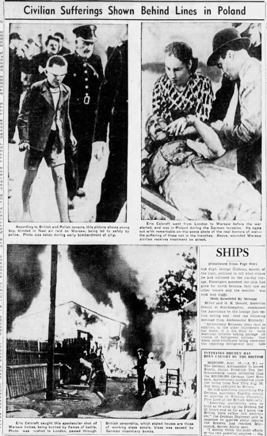 """Images showing """"civilian sufferings"""" in Poland during German invasion -"""