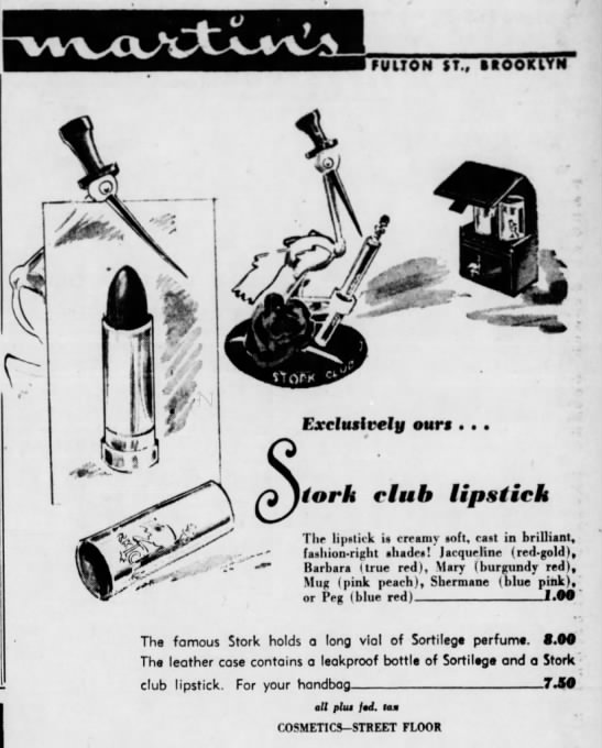 Stork Club products -