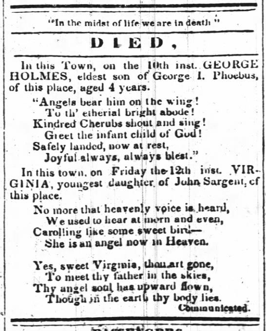 Virginia Sargent death -