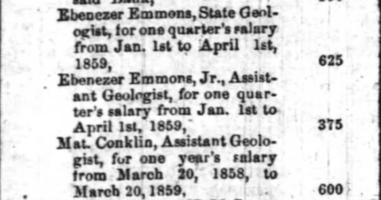 Emmons 22 February 1860 Weekly Raleigh Register (Raleigh, NC) p.4. -