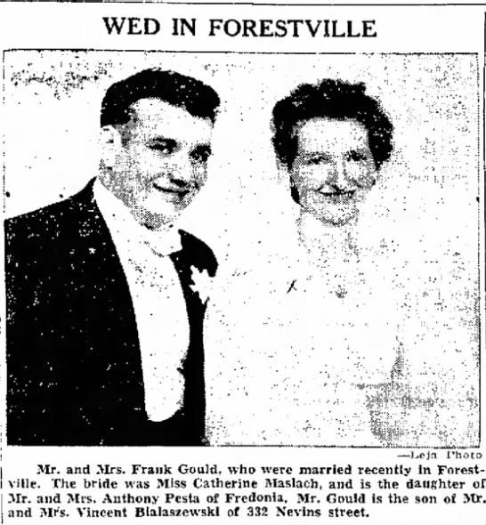 Gould/Maslach wedding -