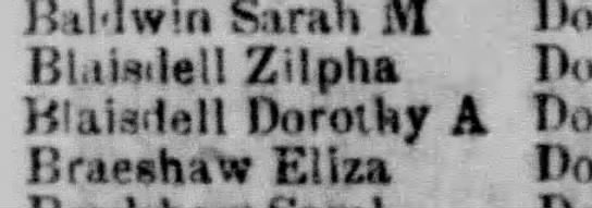 Boston Post office Zilpha and Dorothy Blaisdell -