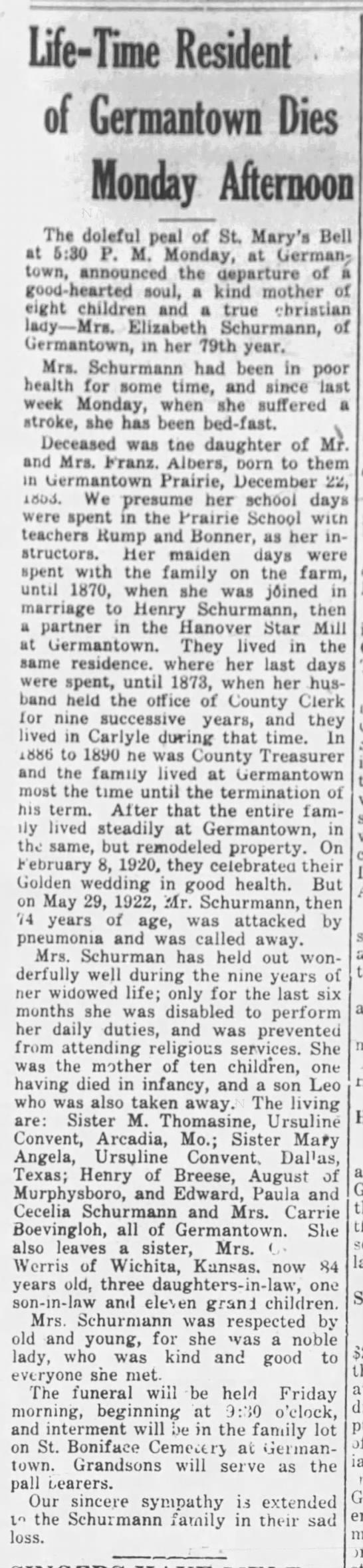 Germantown resident dies -