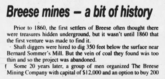 History of Breese Mines -