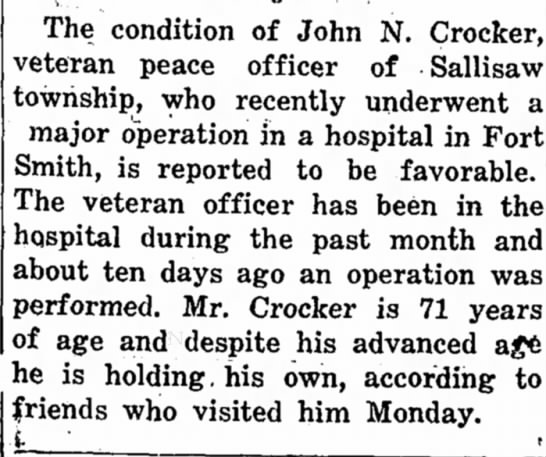 John Crocker- Operation follow-up -