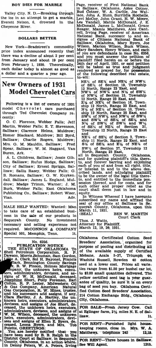 Bud and Azlee CotnerMar 12, 1931The Democrat American -